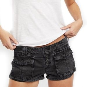 NWT Free People Women's Button Front Shorts Grey